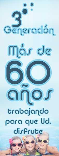 60 AÑOS EN EL MERCADO DE LA CONSTRUCCIÓN DE PISCINAS